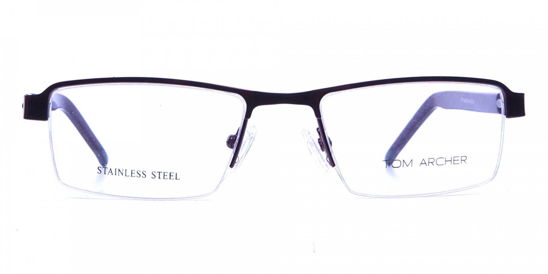 Red Rectangular Glasses, Eyeglasses