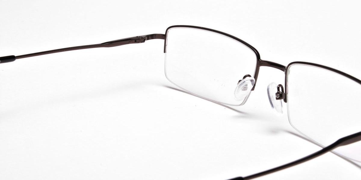 Rectangular Glasses in Brown, Eyeglasses