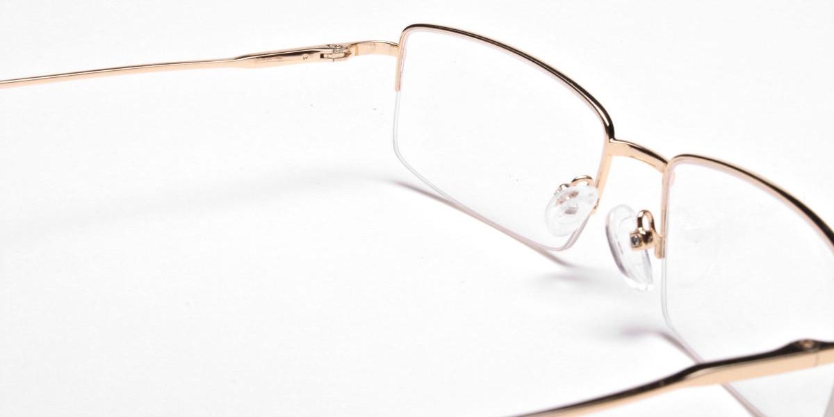Gold Rectangular Glasses-1