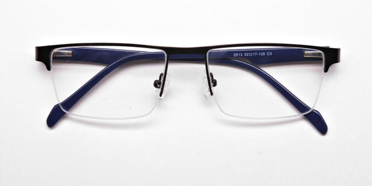 Rectangular brown Glasses, Eyeglasses -1