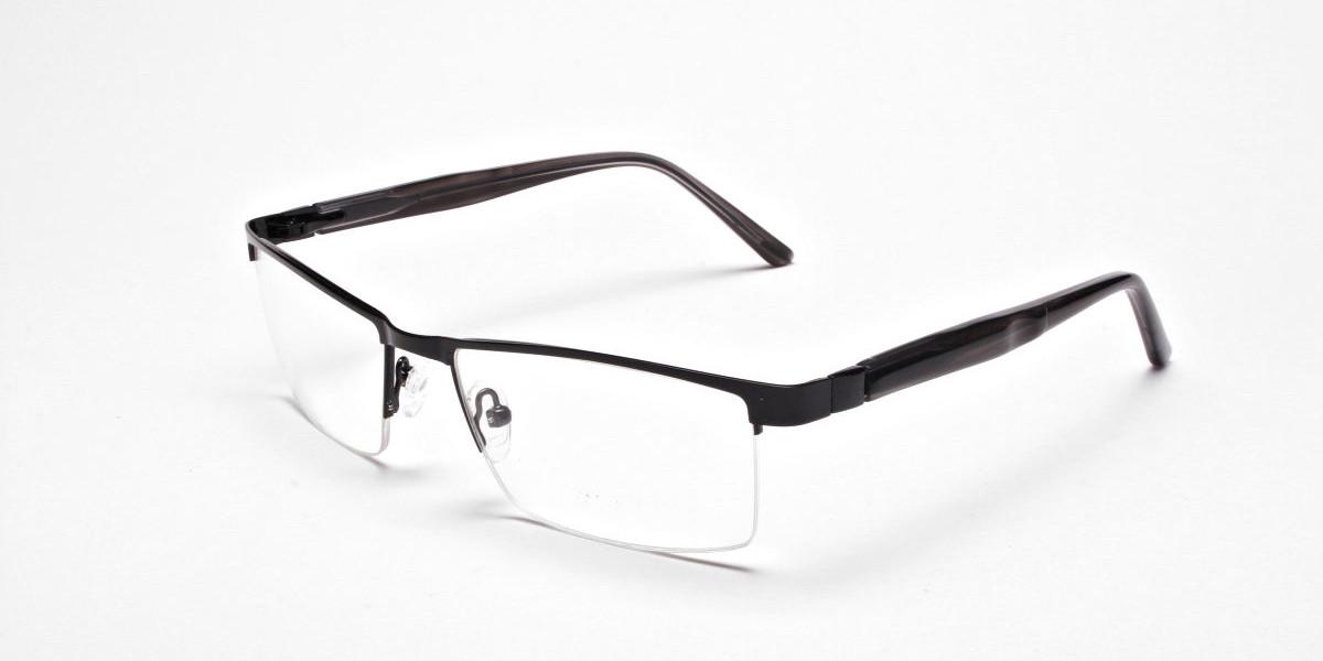 Black Rectangular Glasses, Eyeglasses