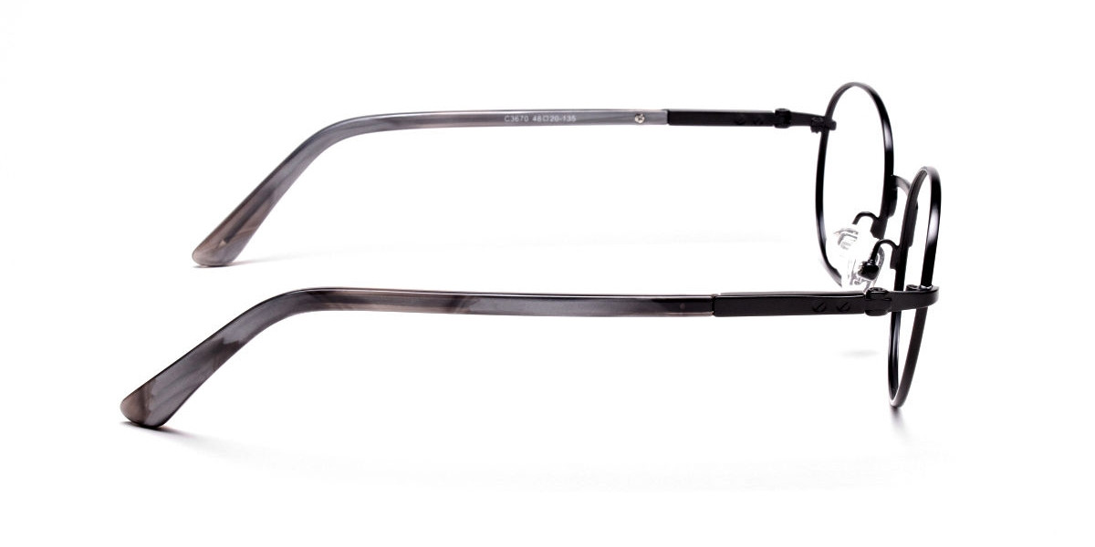Round Glasses in Black, Eyeglasses - 1