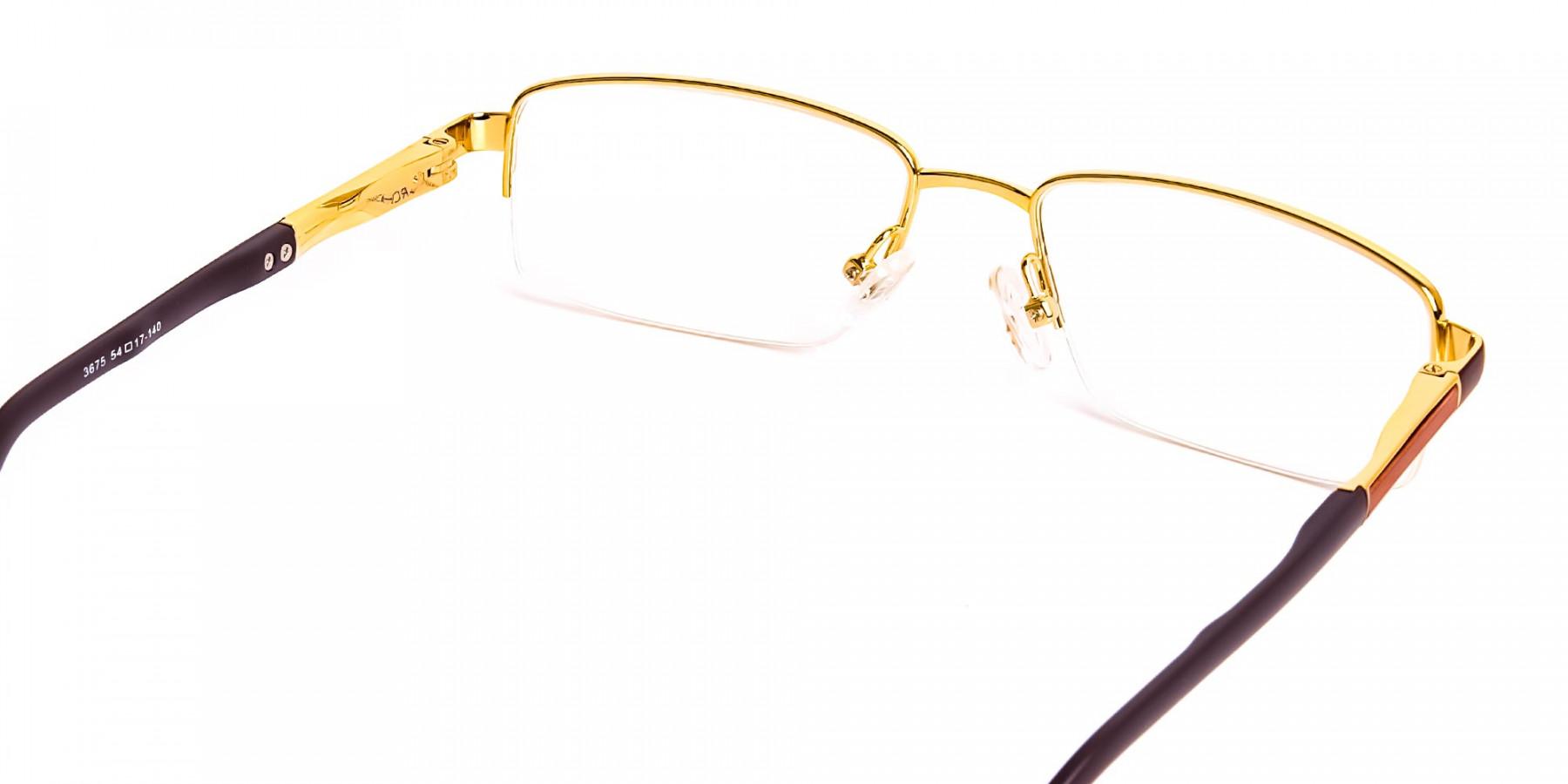 brown-rectangular-half-rim-rectangular-glasses-frames -1