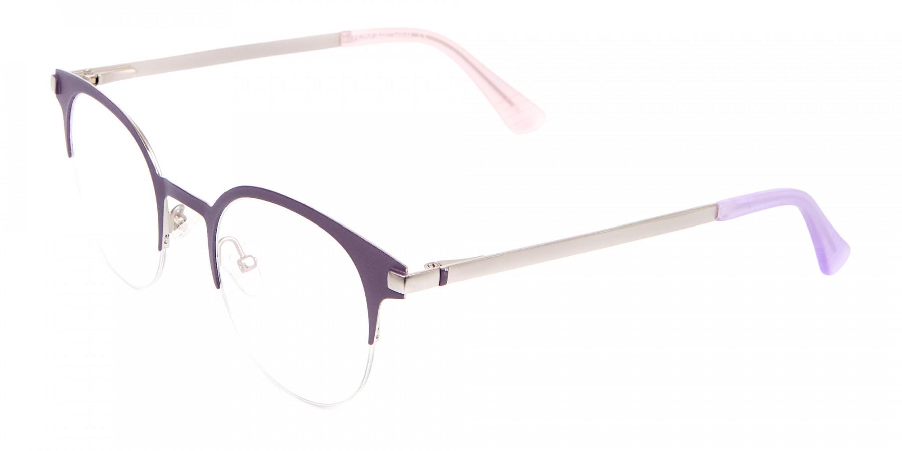 Violet Purple Browline Glasses Glasses Online-1