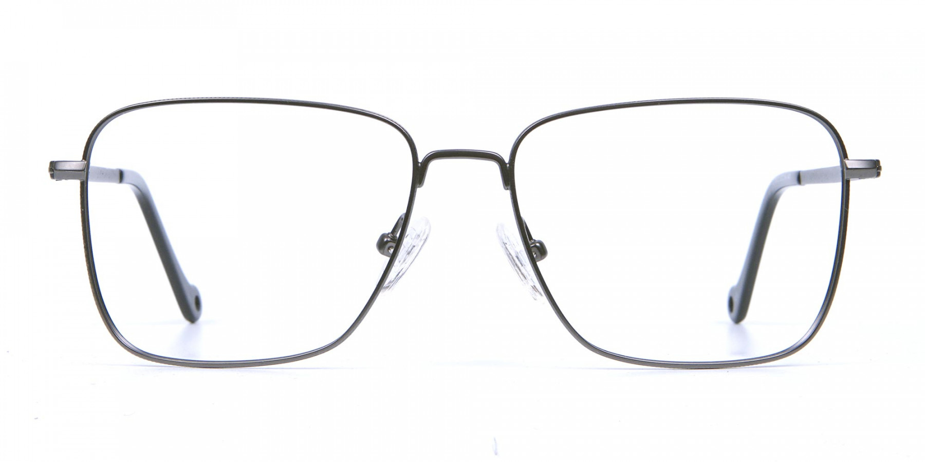 Gunmetal Square Glasses, Eyeglasses