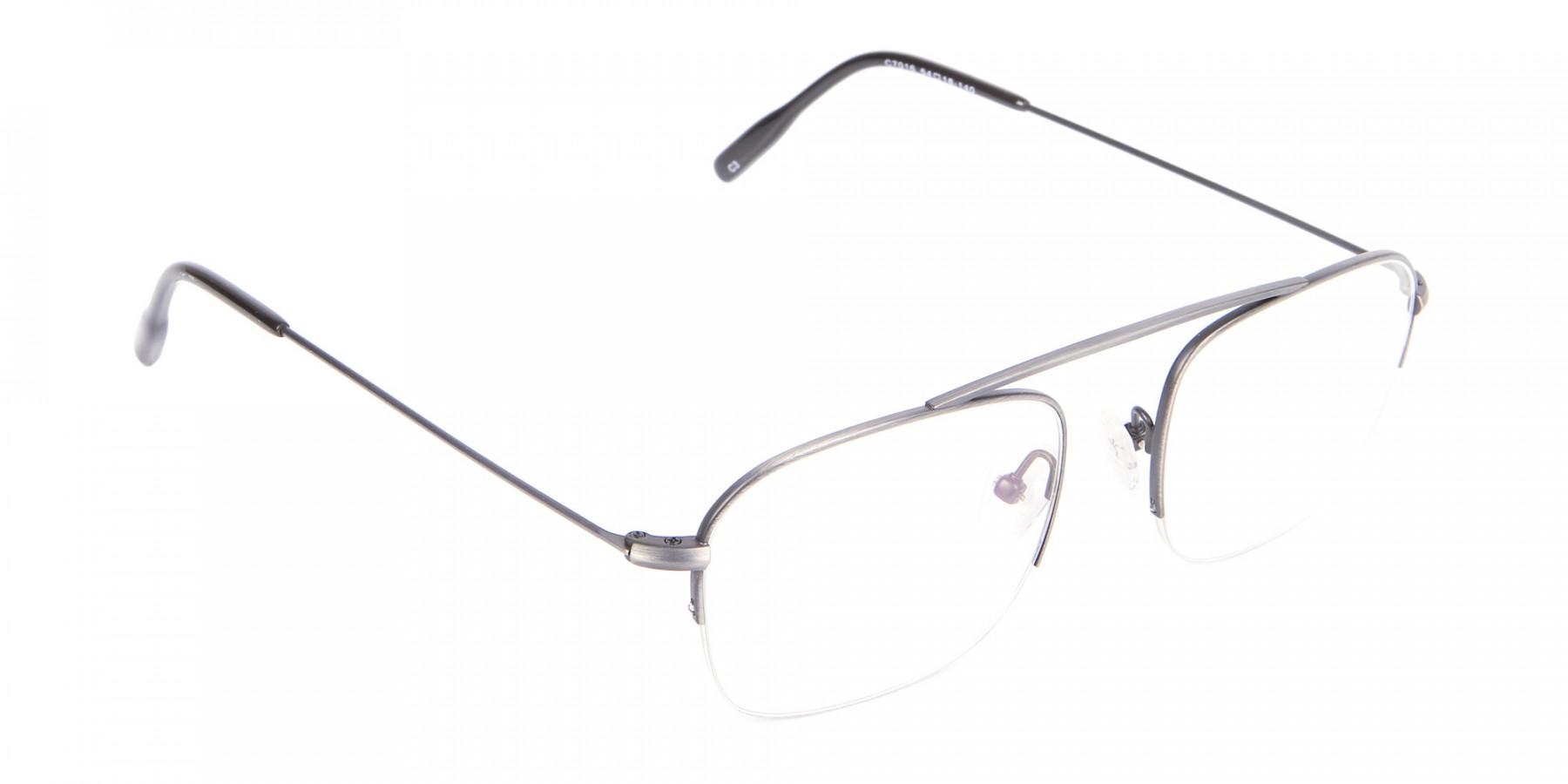 Detail Semirimless Frame Silver Bridgeless -1
