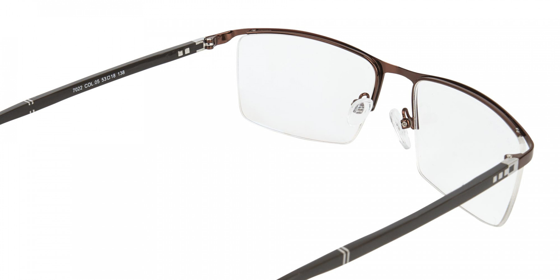 Brown and Black Semi-Rim Glasses-1