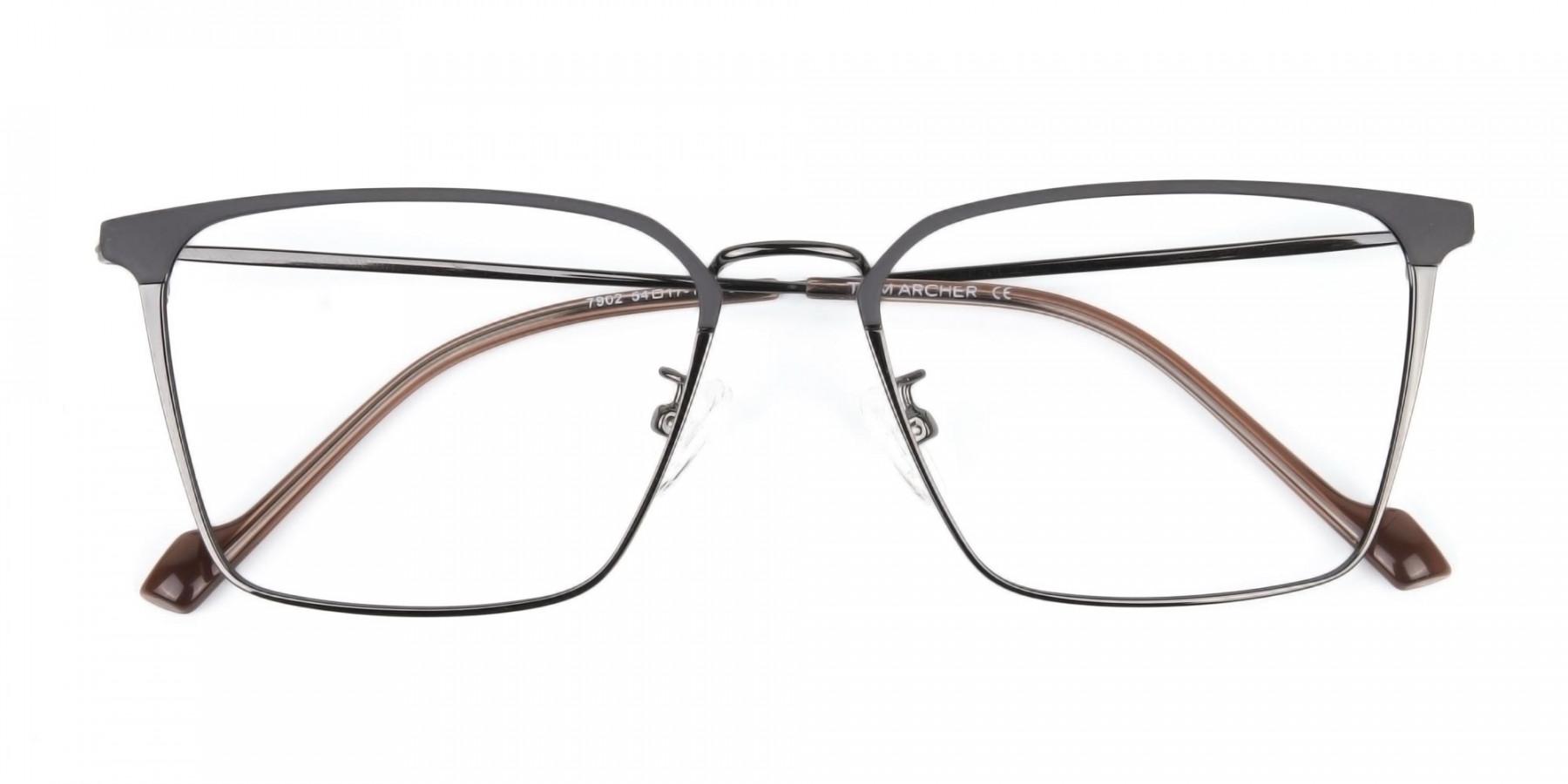 Gunmetal Wayfarer Glasses in Lightweight Metal-1