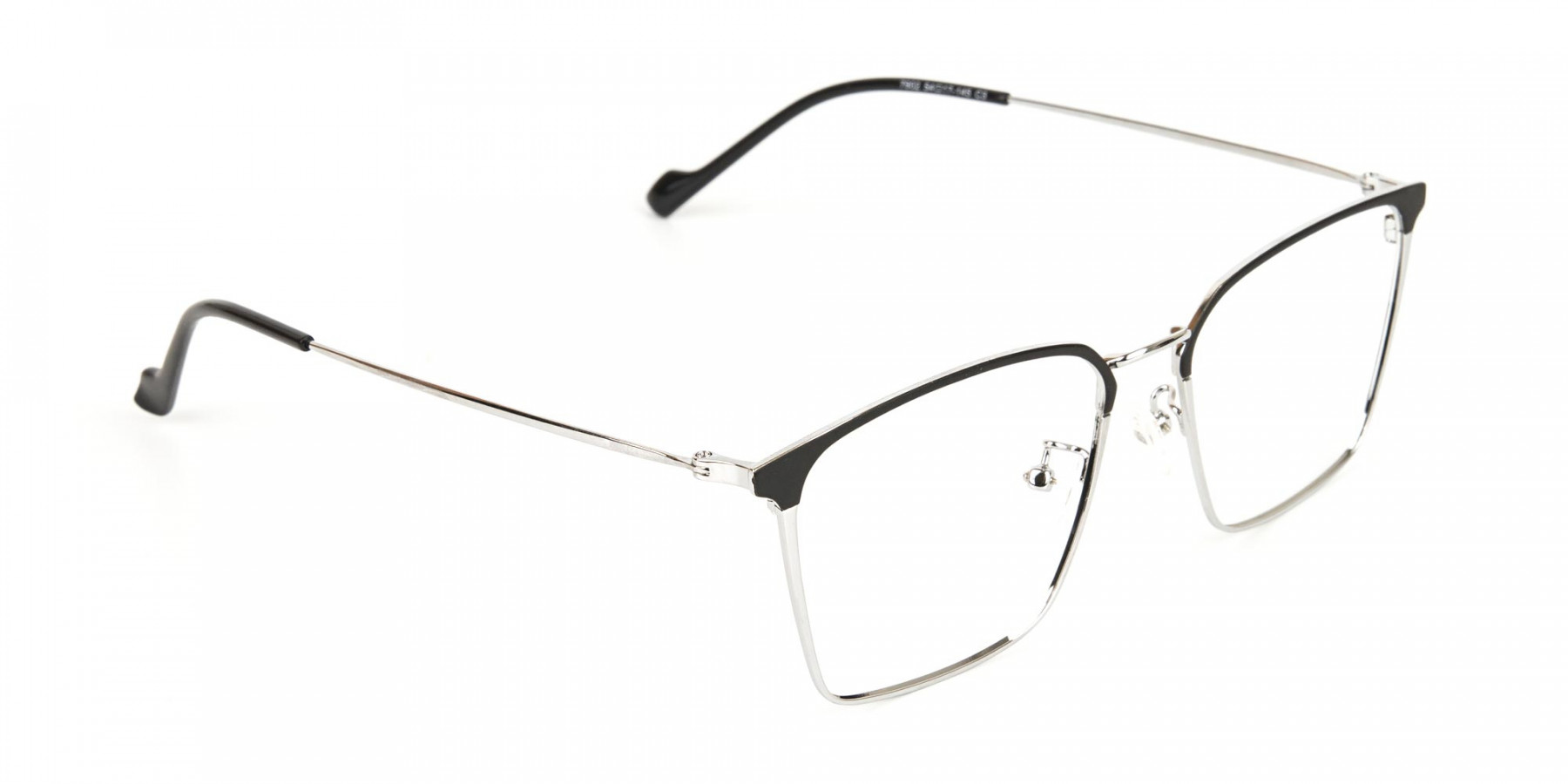 Silver Wayfarer Glasses in Lightweight Metal-1