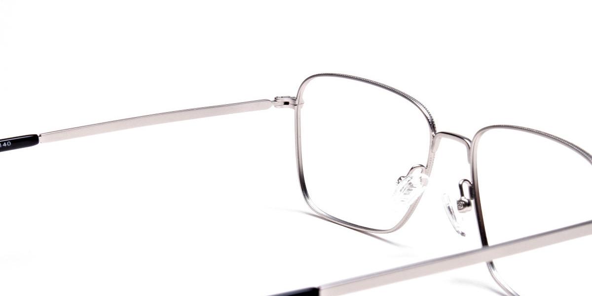 Silver Rectangular Glasses, Eyeglasses