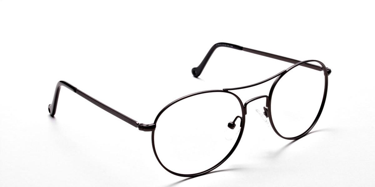 Gunmetal Round Glasses, Eyeglasses