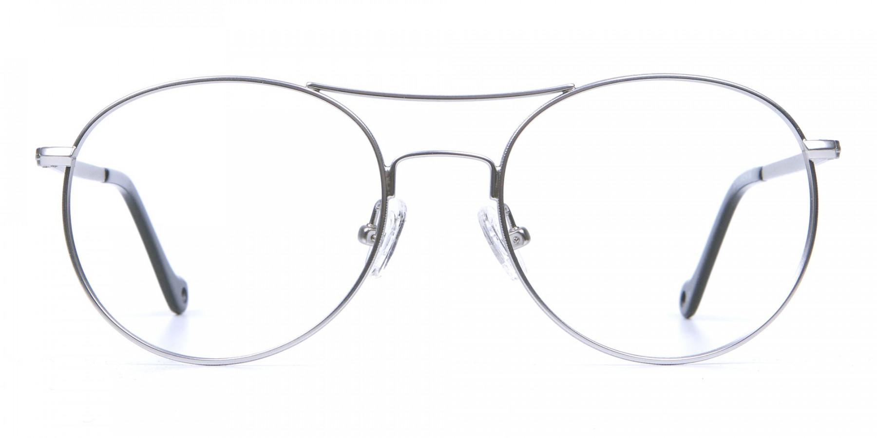 Silver Round Glasses, Eyeglasses -1