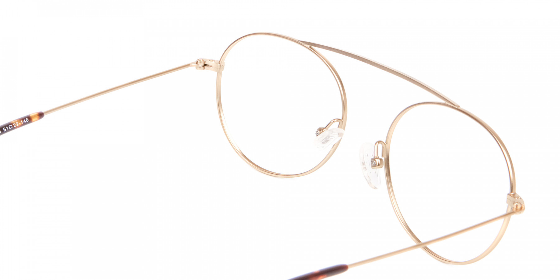 Gold Bridgeless Round Retro Frame Online UK-1