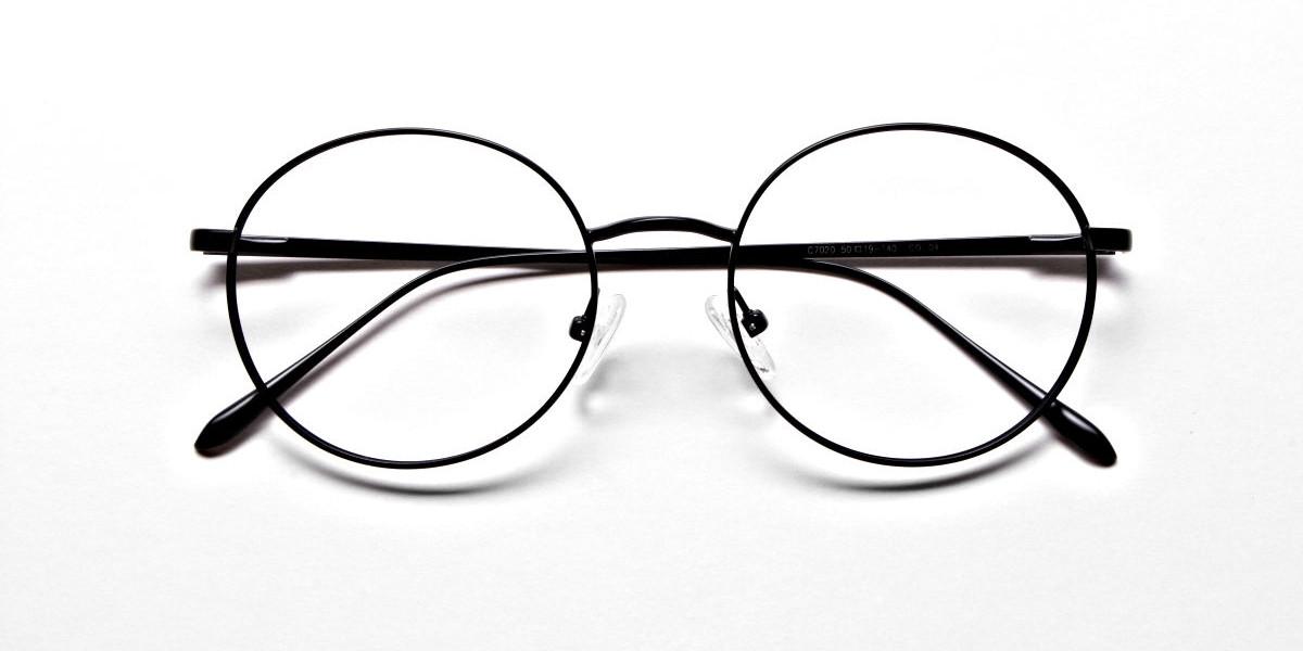 Round Glasses in Black, Eyeglasses -1