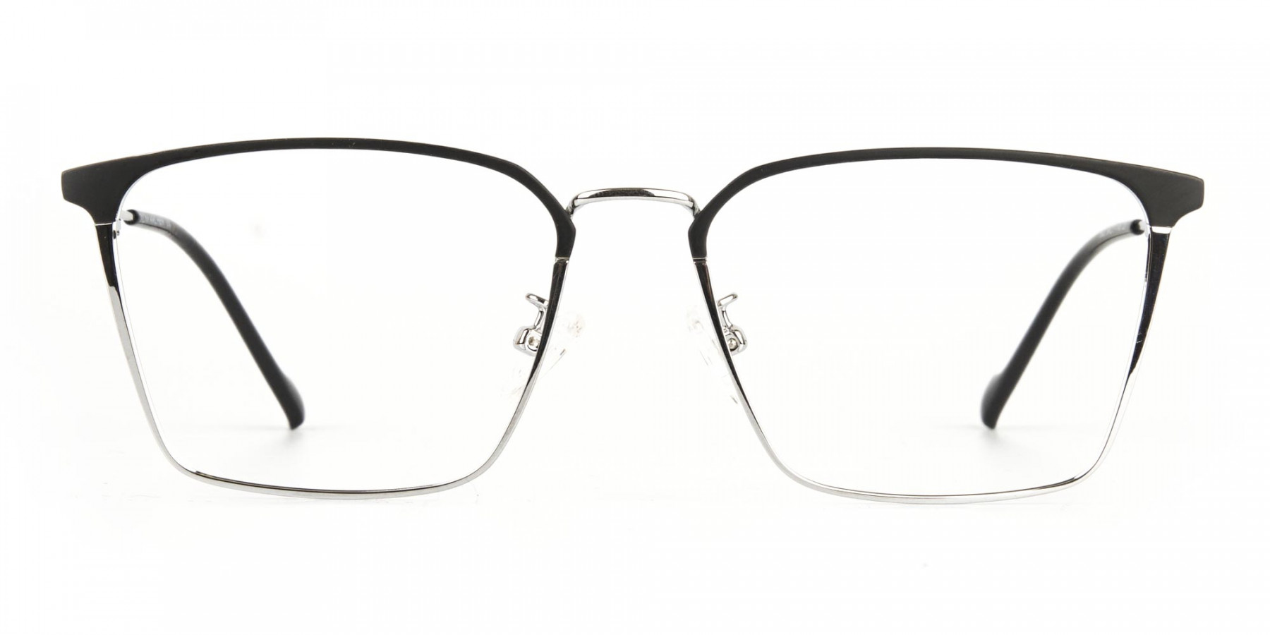 Silver Wayfarer Glasses in Lightweight Metal-1