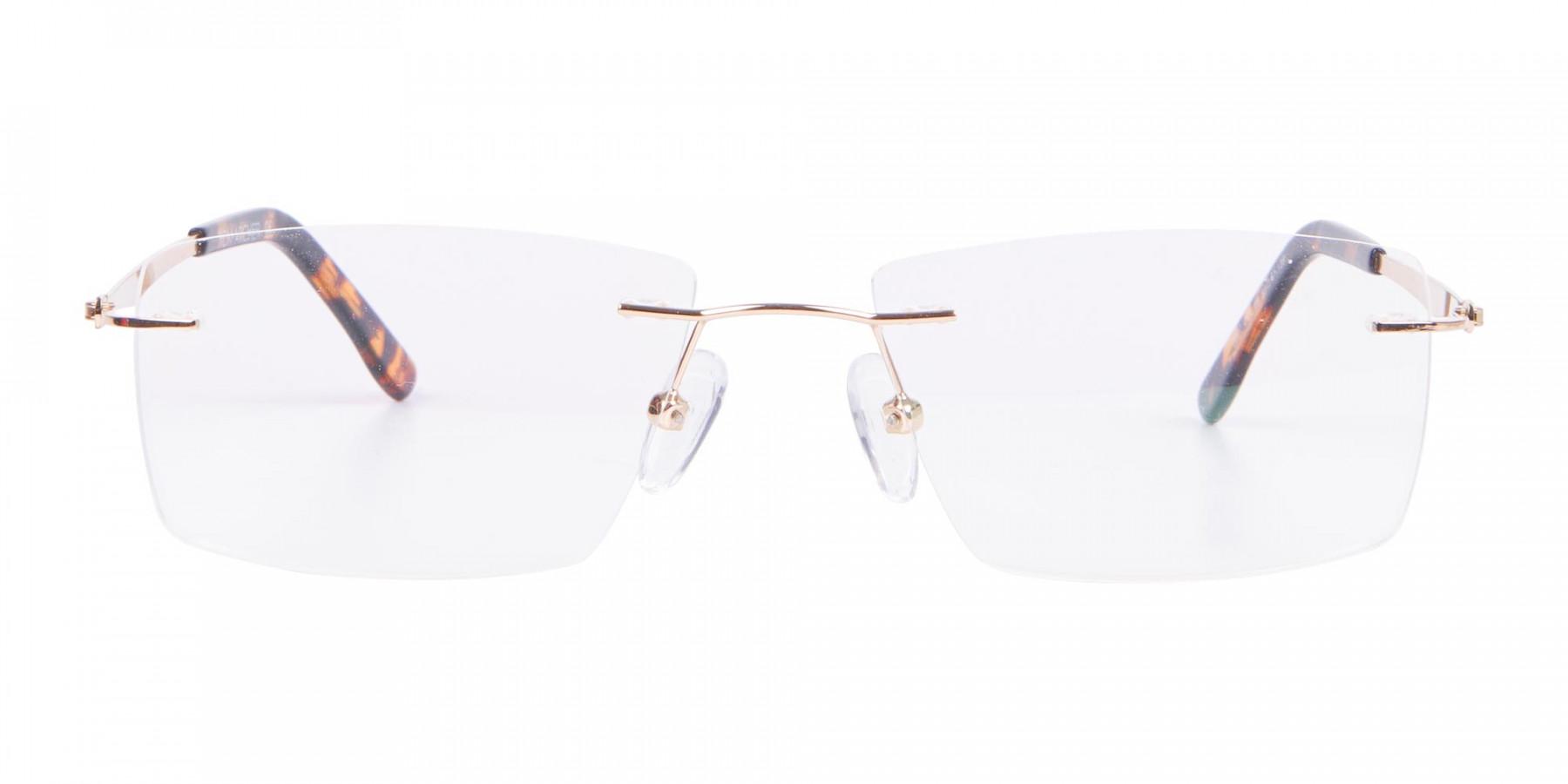 Gold Rimless Glasses Men & Women-1