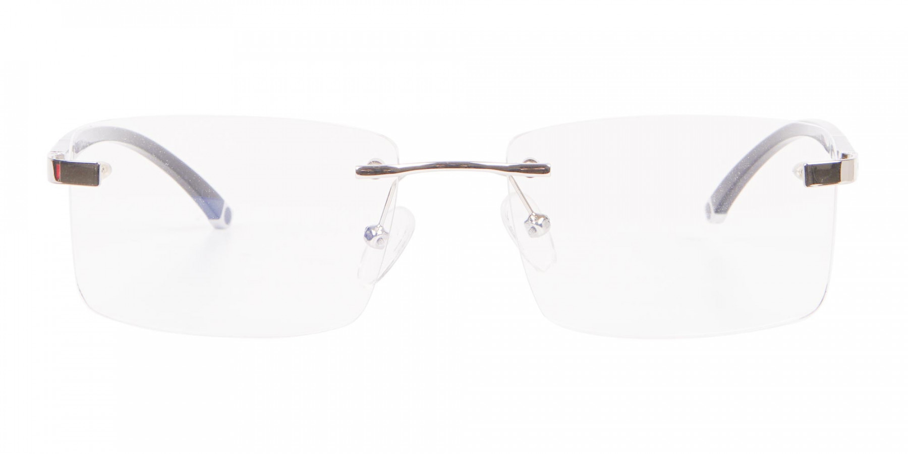 Silver Rectangular Rimless Glasses, Online UK-1