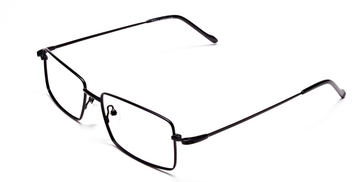 Titanium Glasses in Black, Eyeglasses - 1