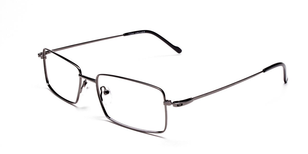 Titanium Glasses in Gunmetal, Eyeglasses - 1