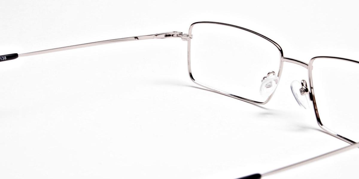 Titanium Glasses in Silver, Eyeglasses - 1