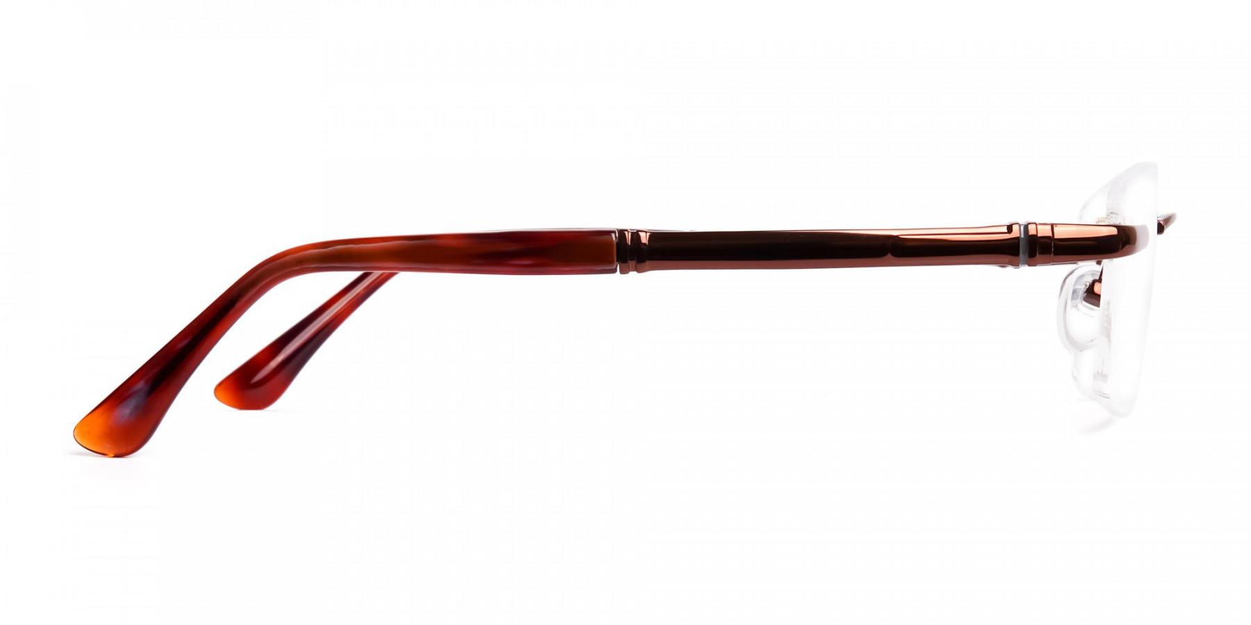 brown-rectangular-rimless-metal-glasses-frames-1