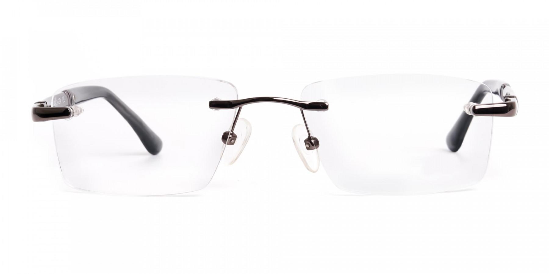 gunmetal-rectangular-rimless-glasses-frames-1