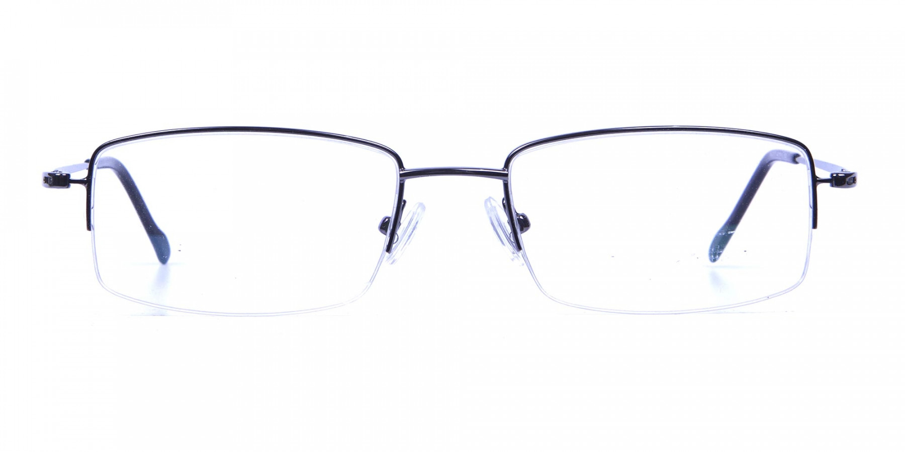Gunmetal Light Half-Rim Frame - 2