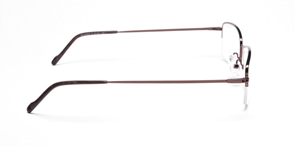 Brown Rectangular Half-Rims - 1