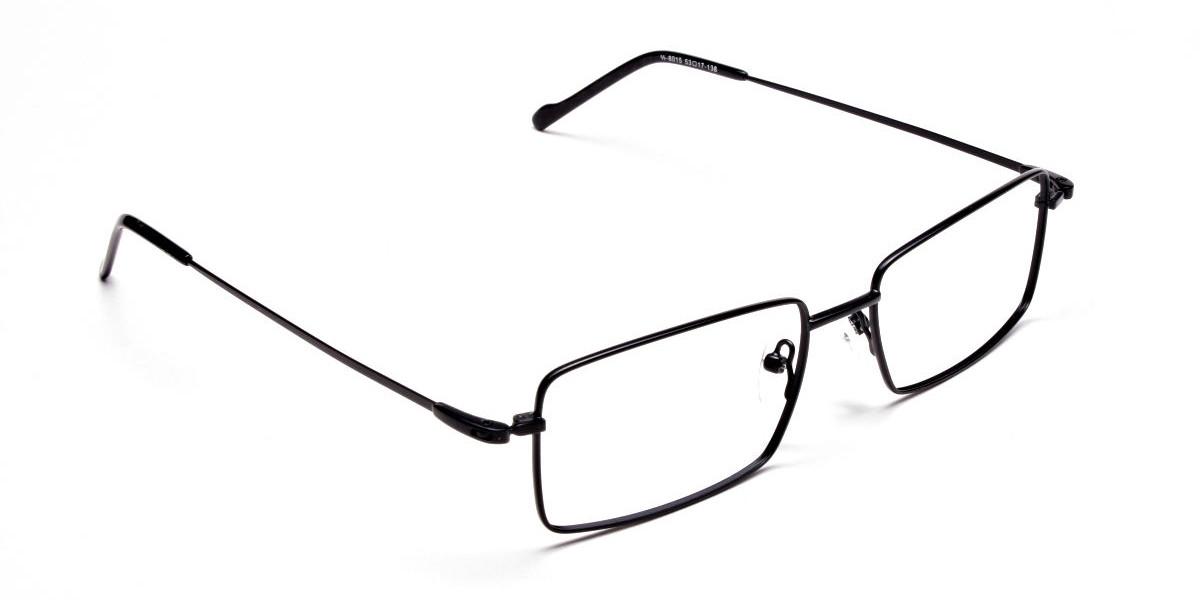 Titanium Glasses in Black, Eyeglasses - 1