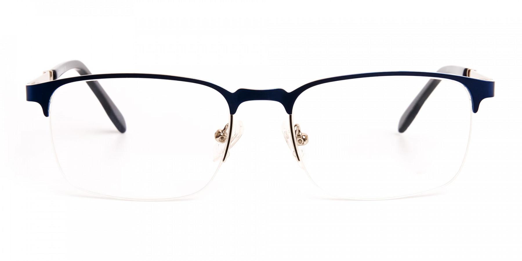 dark-and-navy-blue-rectangular-half-rim-glasses-frames -1