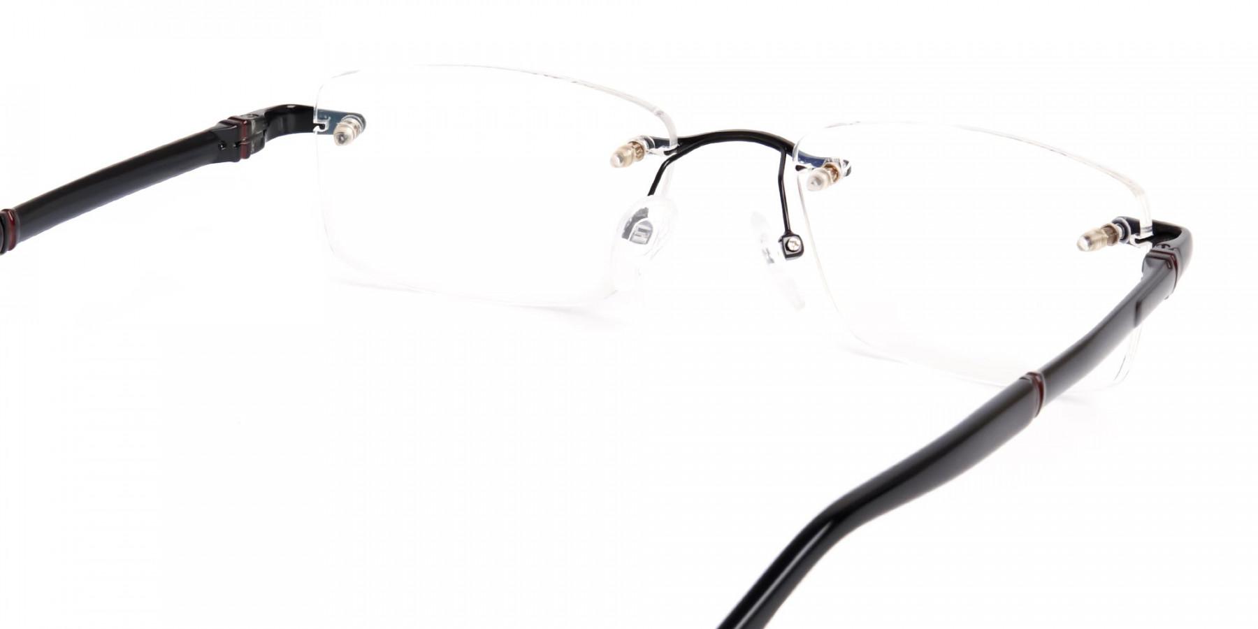 black-rectangular-rimless-titan-glasses-frames-1