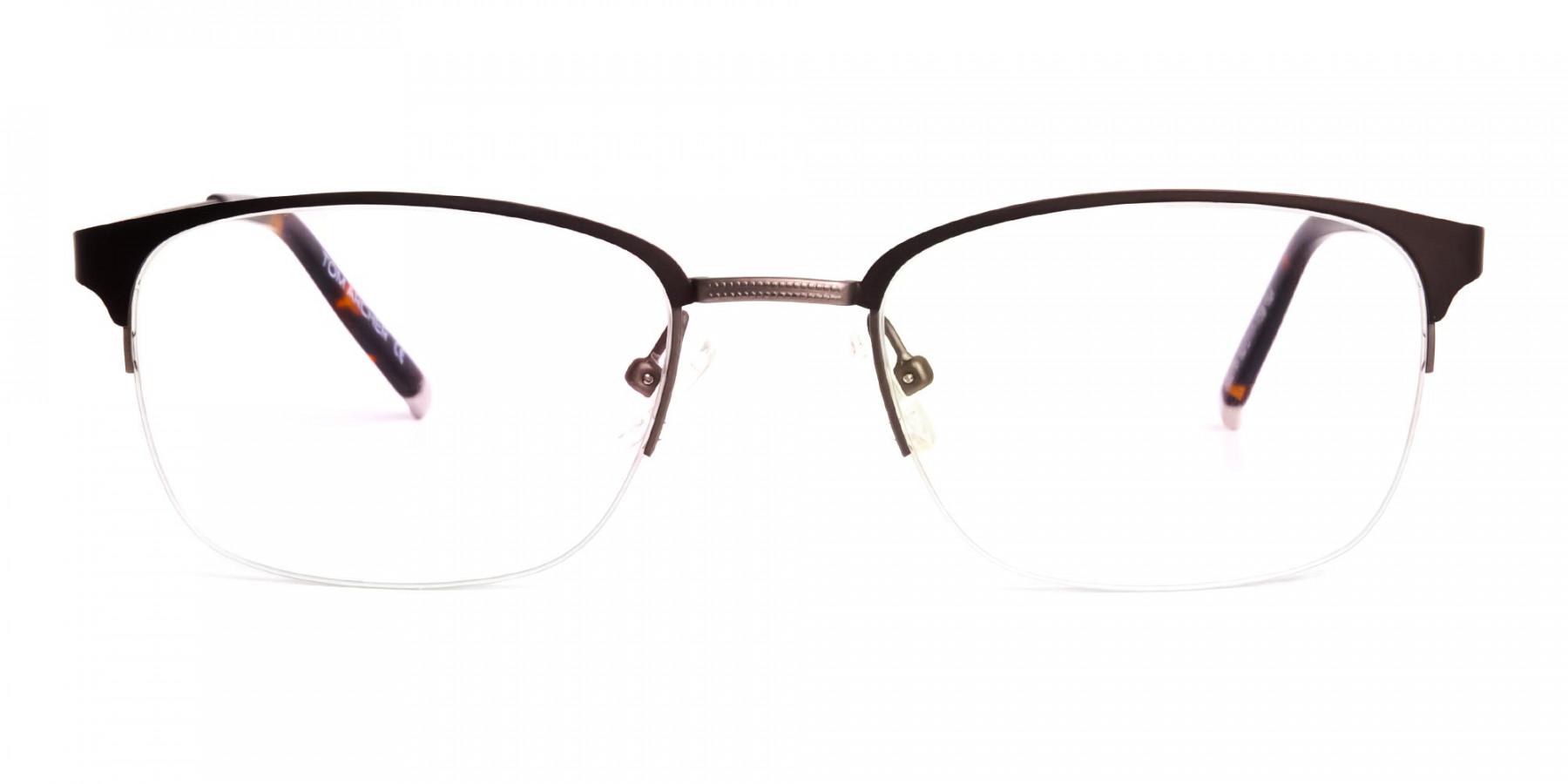 matte-brown-half-rim-rectangular-glasses-frames-1