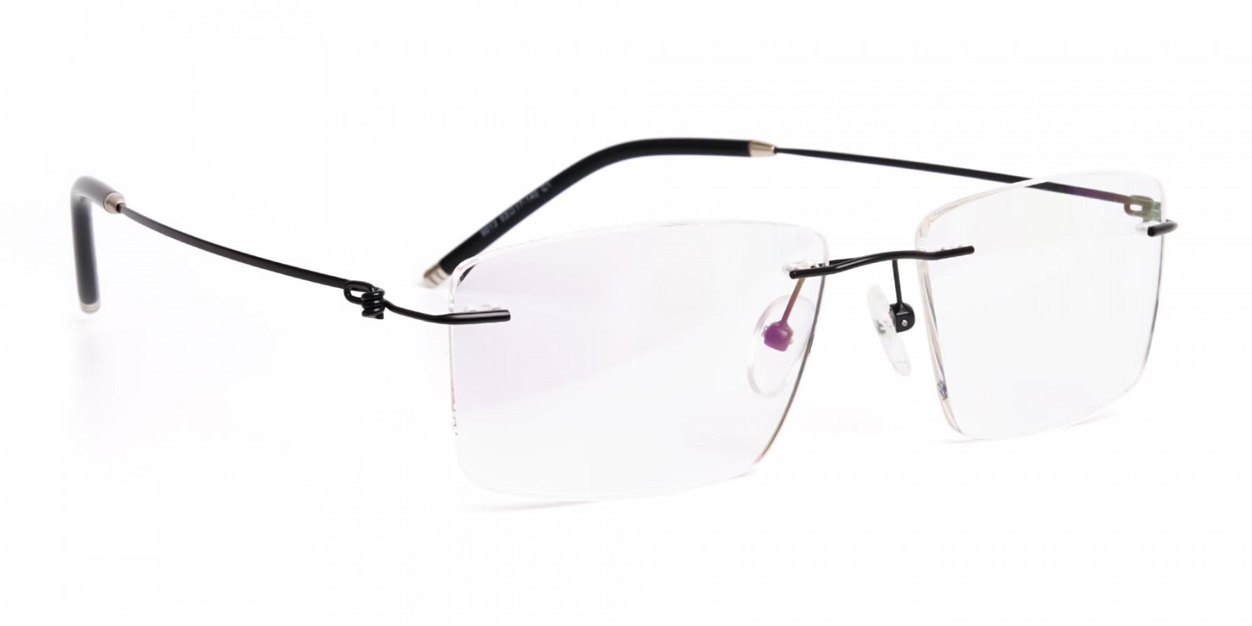 designer-black-rectangular-rim-less-glasses-frames-1