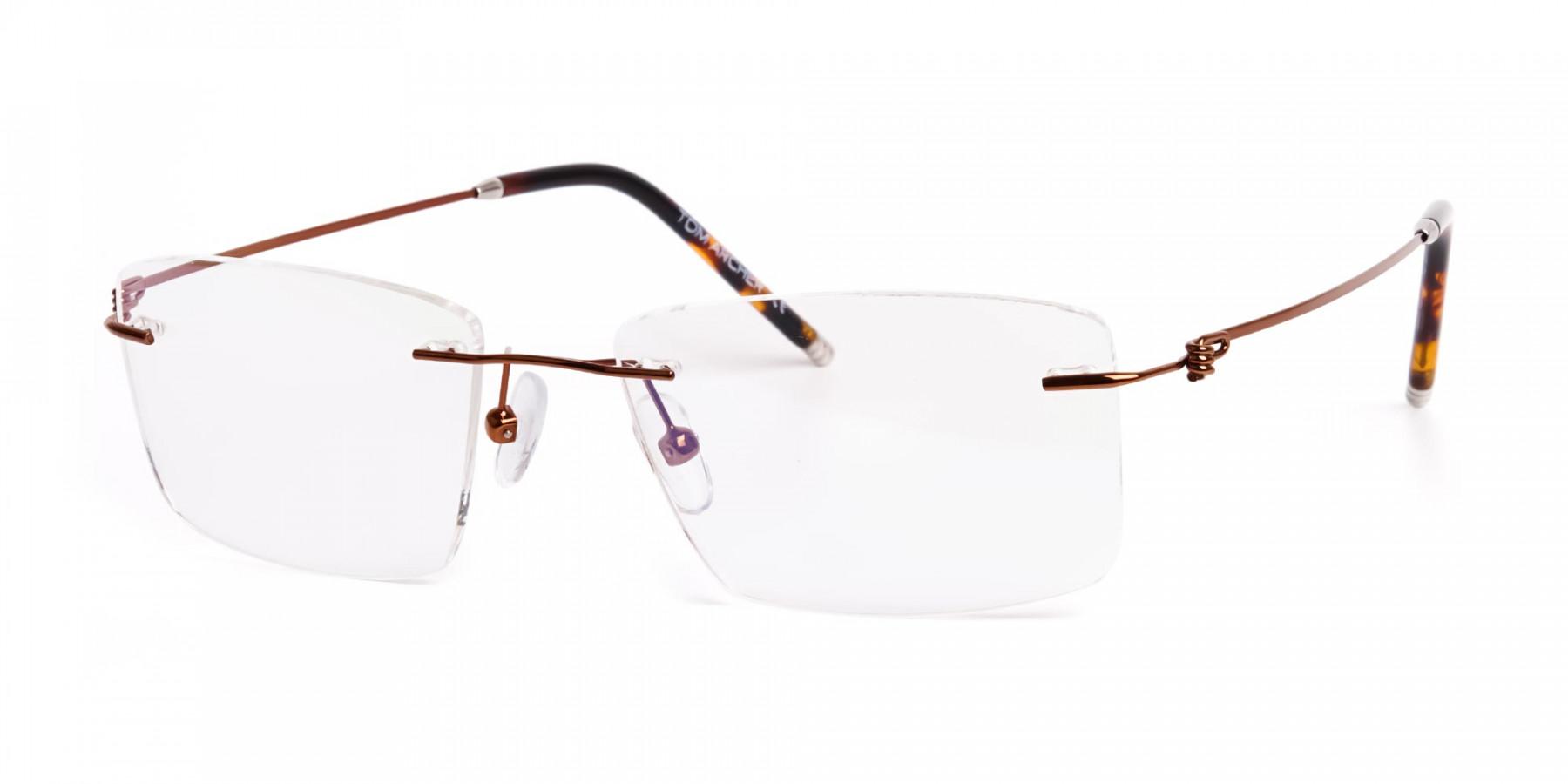 brown-rectangular-rimless-titanium-glasses-frames-1