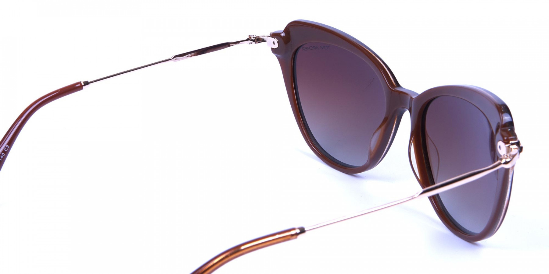 Jewelled Brown Cat Eye Sunglasses -2