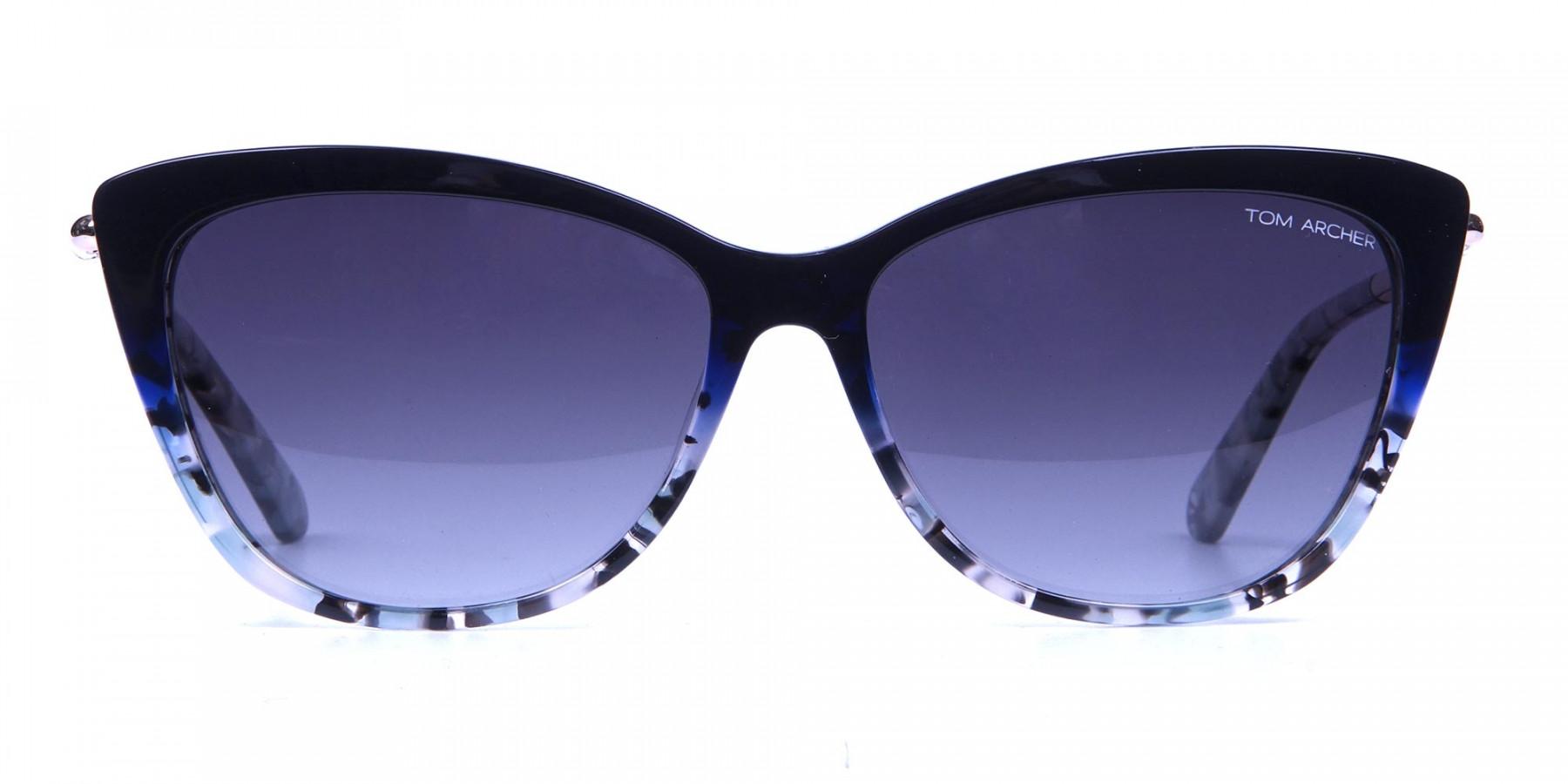 Blue Grey Marbled Cat Eye -2