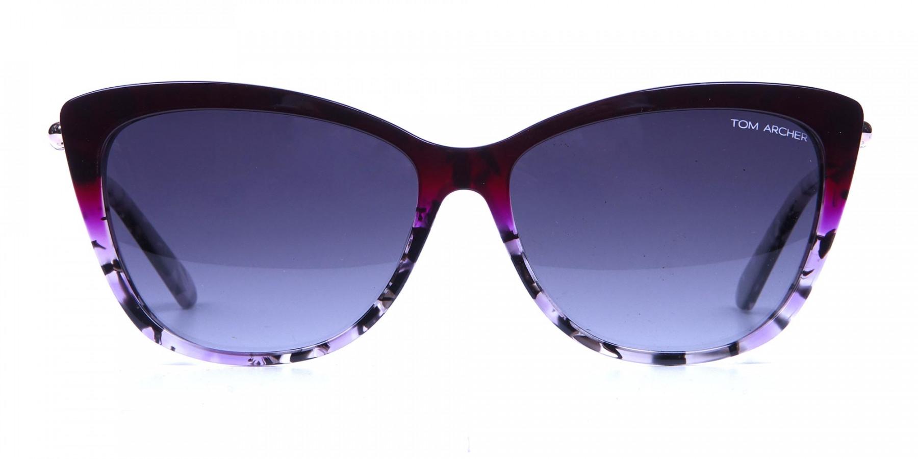 Drops of Wine Purple Cat Eye Sunglasses -2
