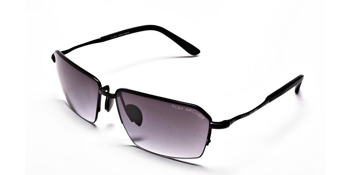 Black Half Rimmed Sunglasses - 2