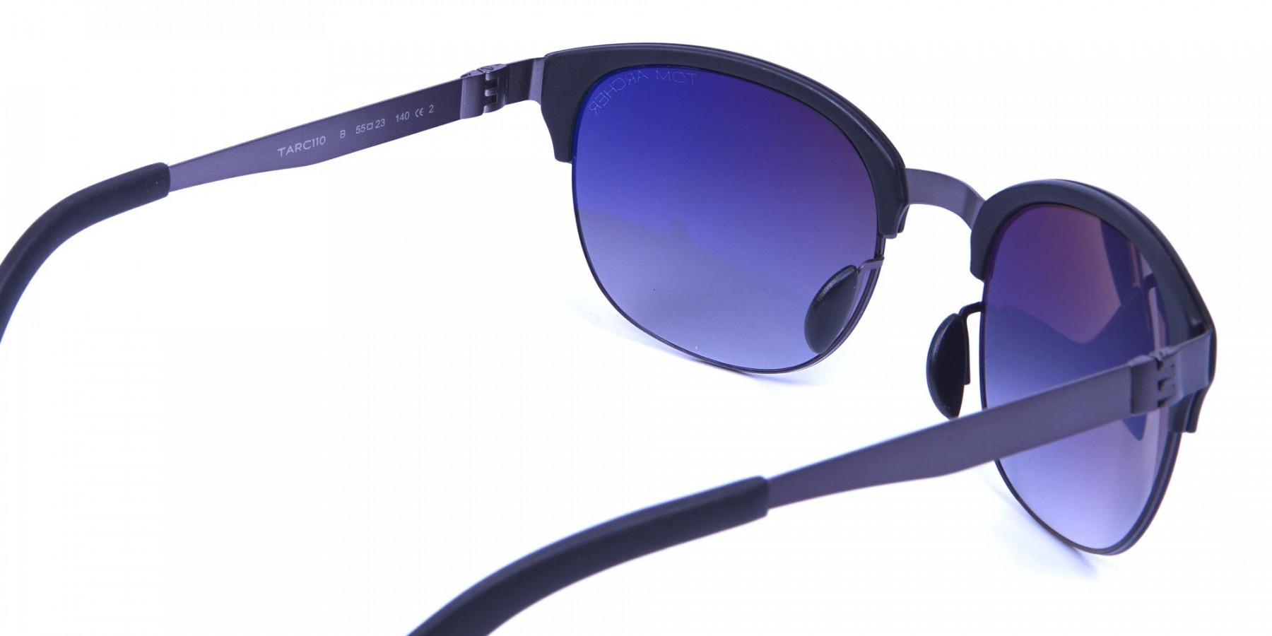 Gunmetal Sunglasses with Cool Tint -2