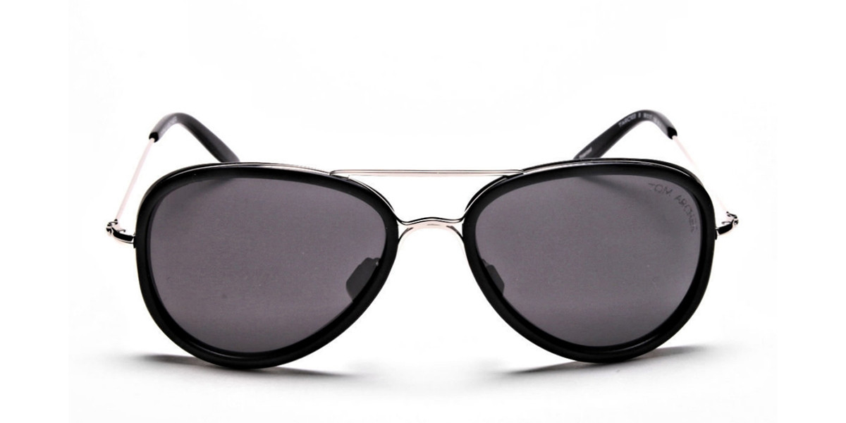 Black and Silver Multi-Material Sunglasses - 2