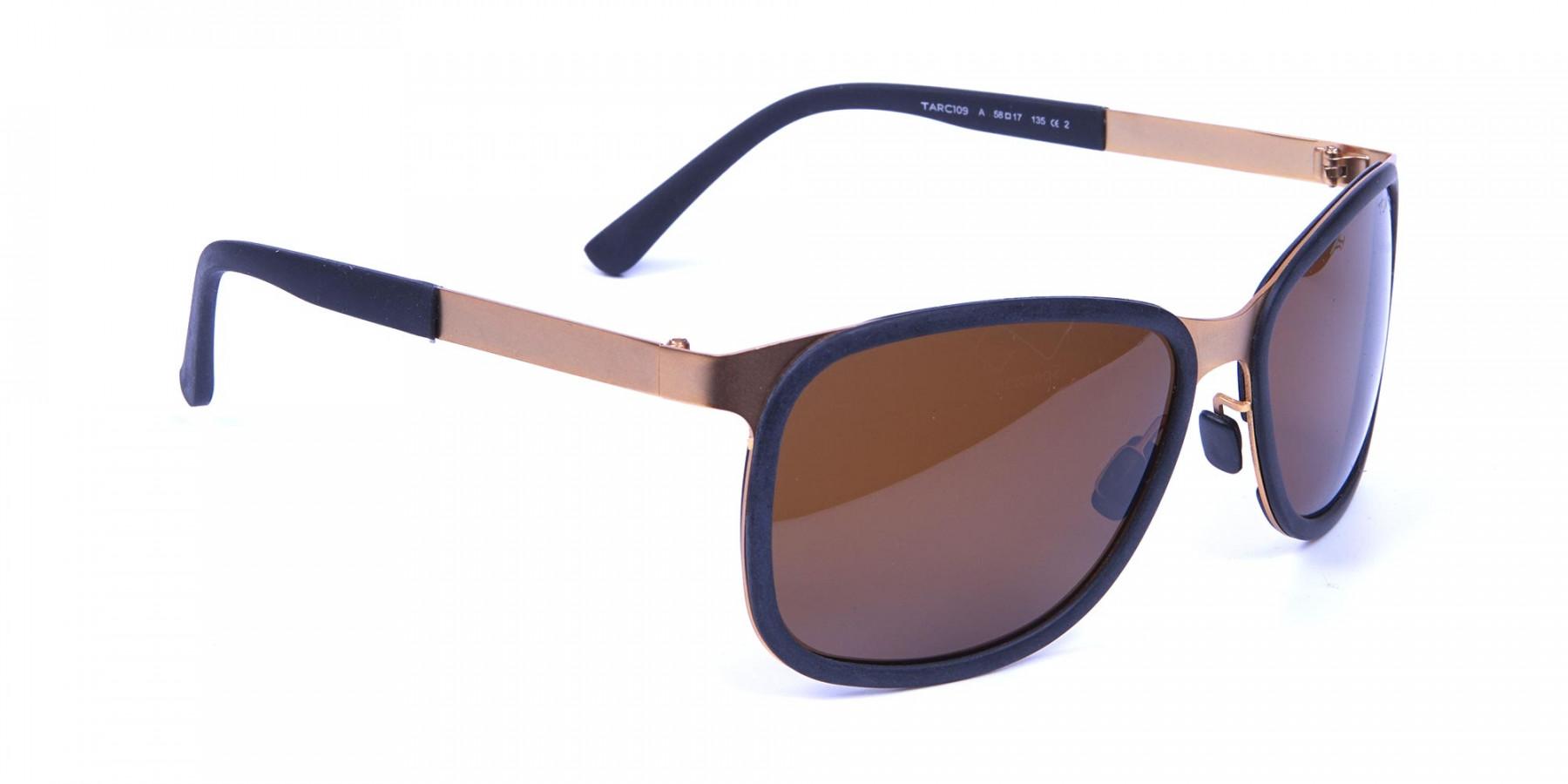 Black & Gold elegant sunglasses -2