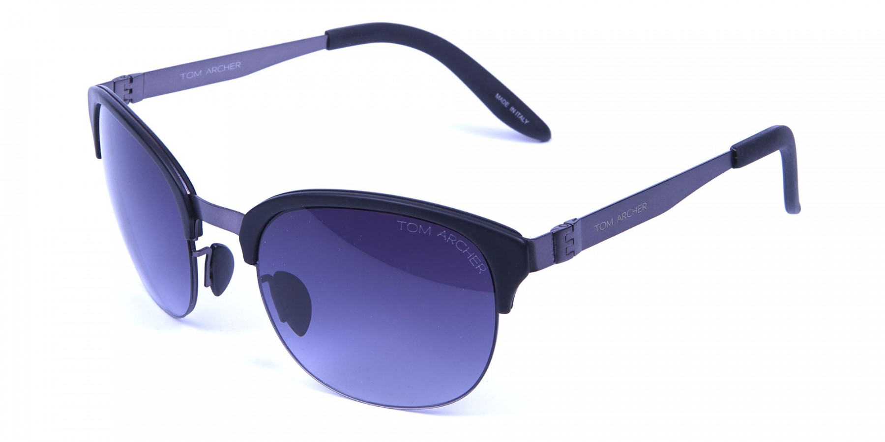 Gunmetal Sunglasses with Cool Tint -2