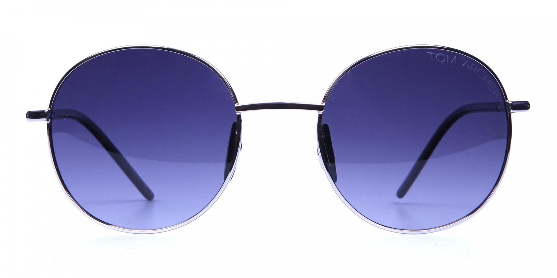 Silver Sunglasses Round Frames -2