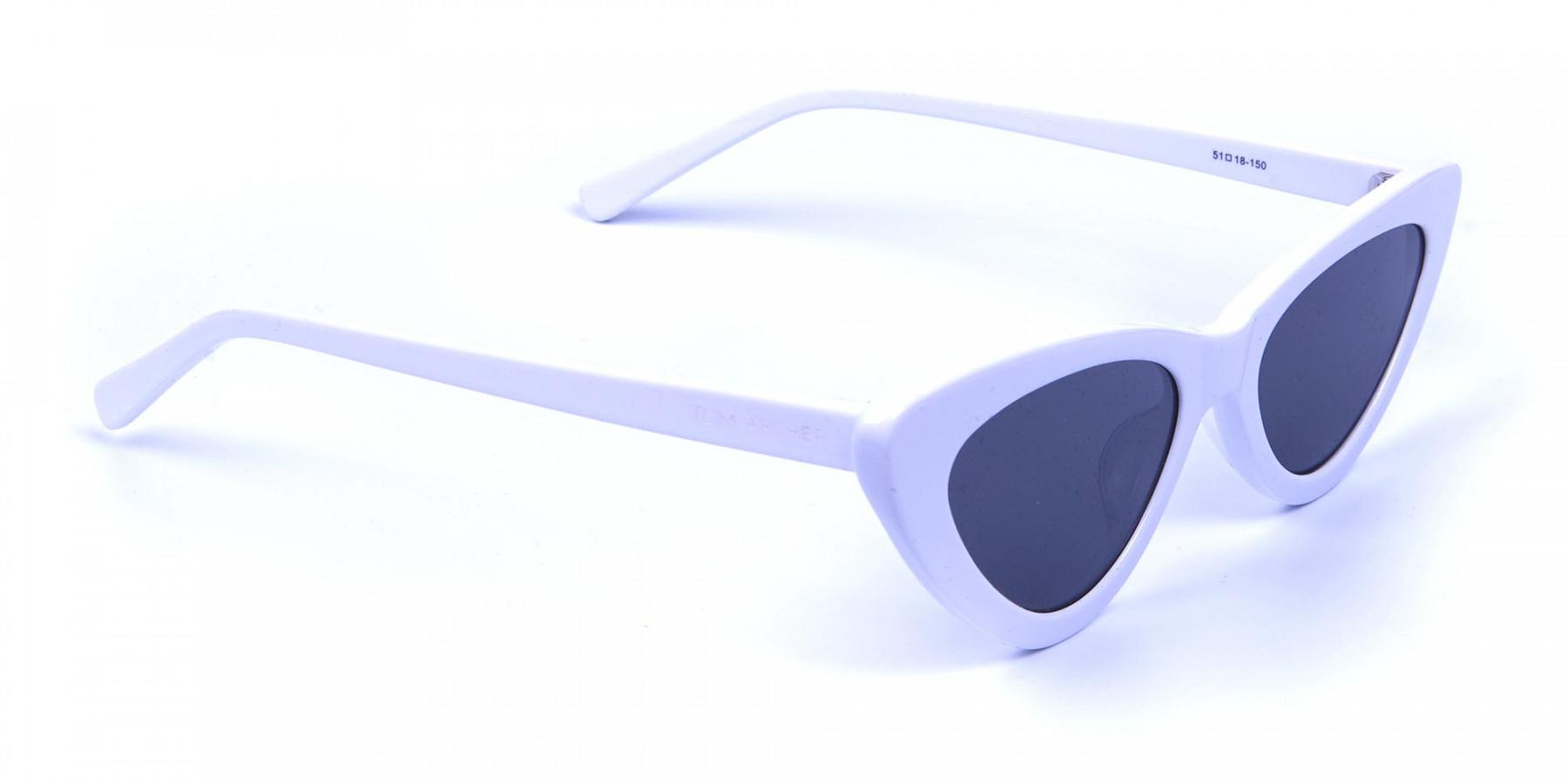 white round cat-eye sunglasses - 2