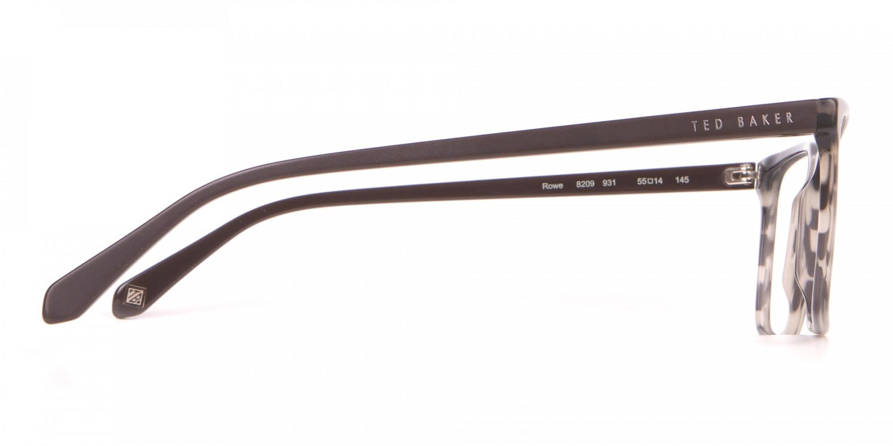 TED BAKER TB8209 ROWE Rectangular Glasses Grey Tortoise-1