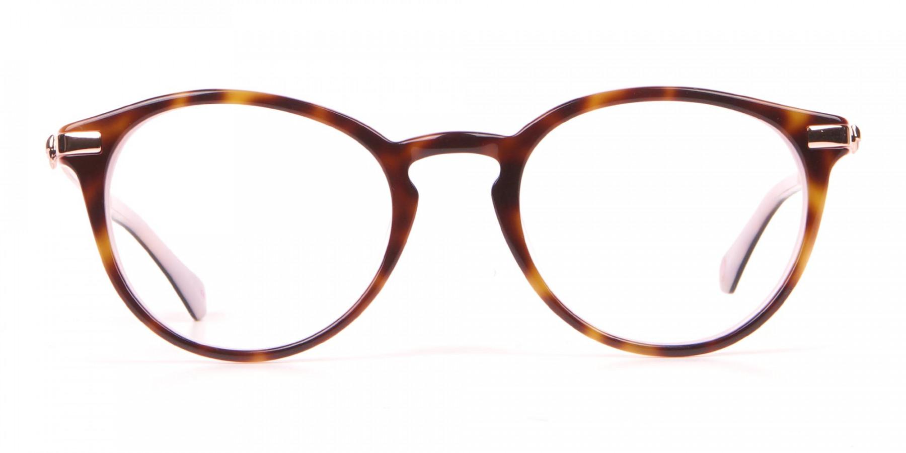 Ted Baker TB9132 Val Women Pink & Tortoise Round Glasses-1