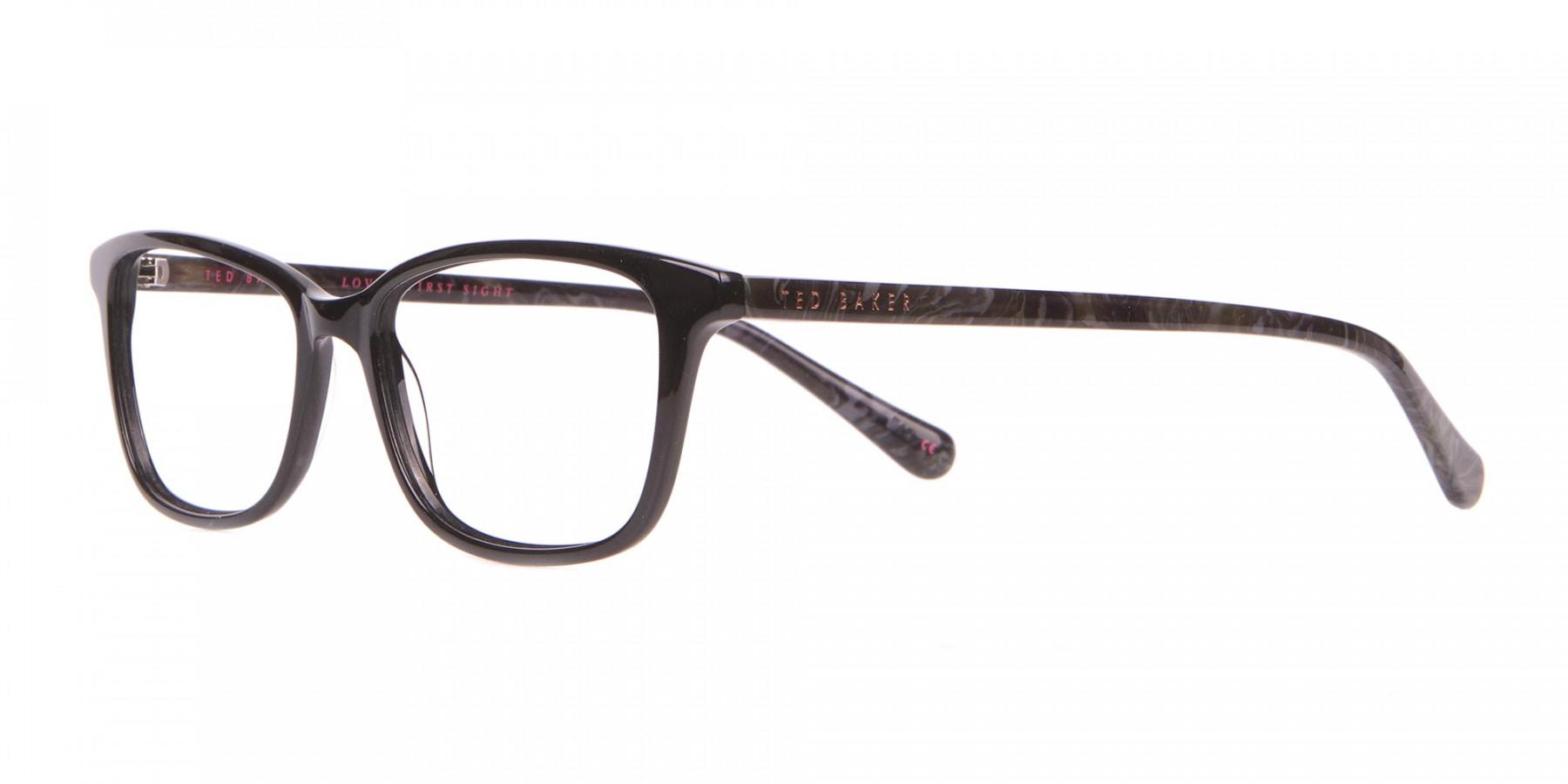 Ted Baker TB9162 Lorie Women's Black Rectangular Glasses-1
