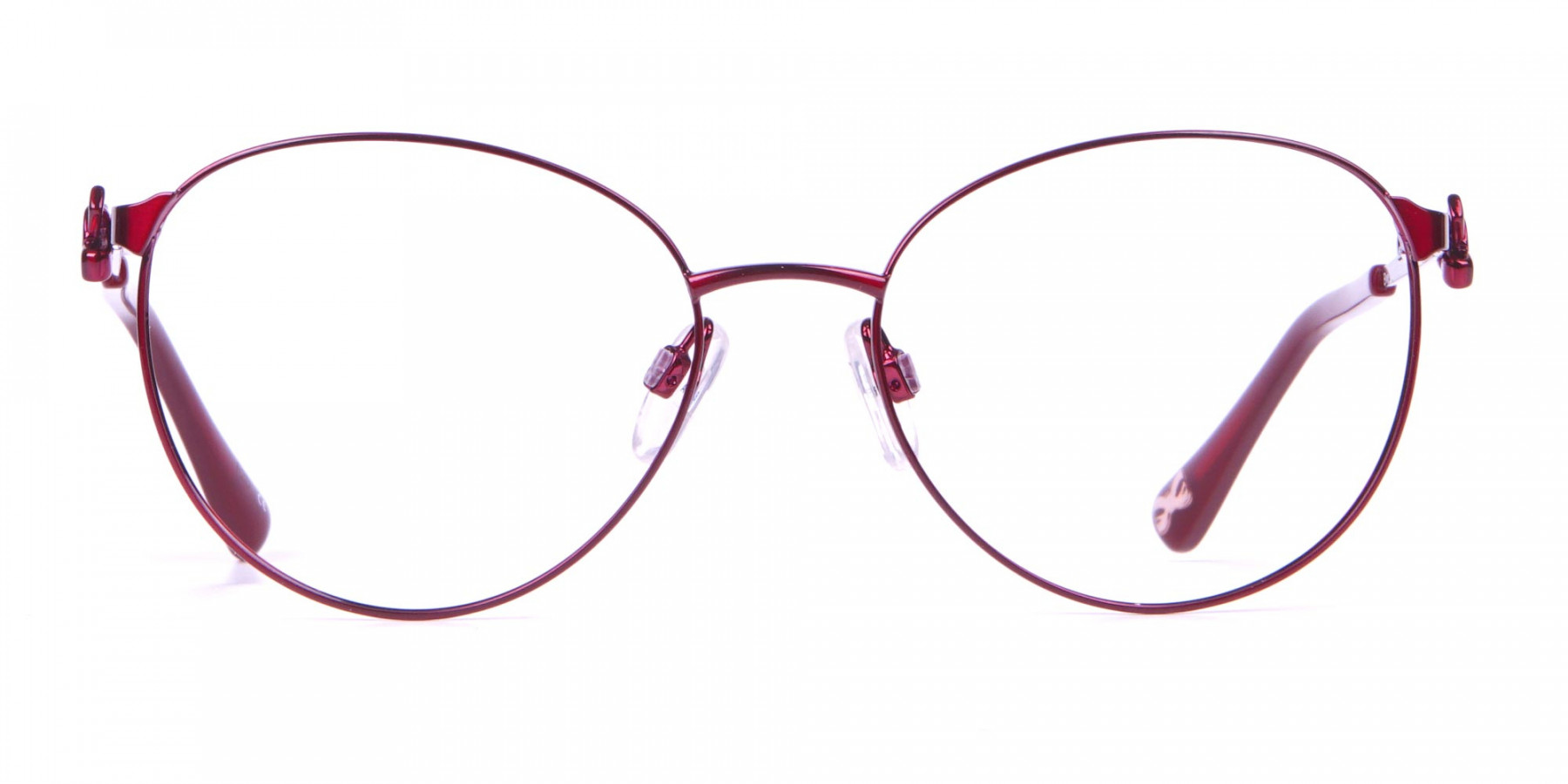 Ted Baker TB2243 Elvie Classic Round Glasses Burgundy Women-1