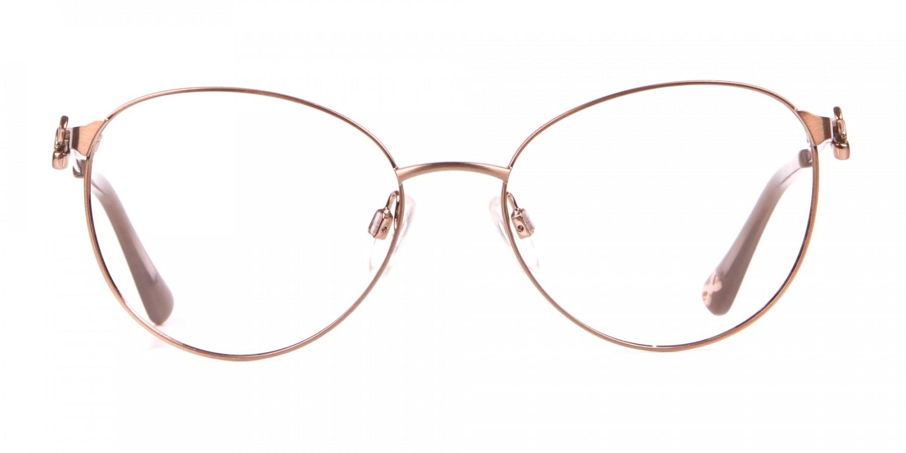 Ted Baker TB2243 Elvie Full Rim Round Metal Glasses Women-1