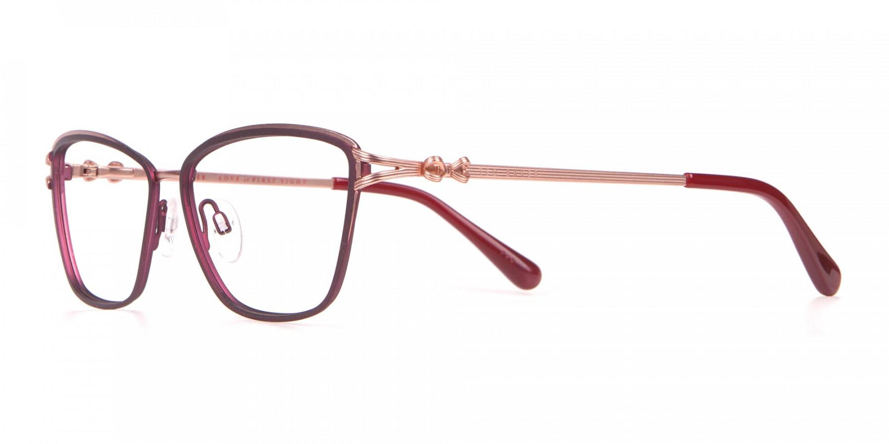 Ted Baker TB2245 Tula Women Classic Cateye Glasses Burgundy-1